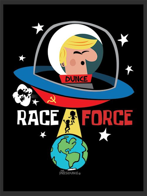 anti Trump, political poster Race Force